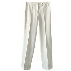 ▪Ivory Wide Leg Cuffed Dress Pants ▪ Express▪1-2R